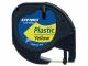 Bandă DYMO Letratag plastic, 12mm x 4m, galben