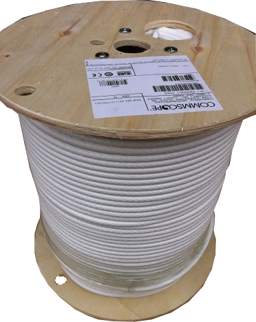 SAT660BV white 3GHz CommScope cable